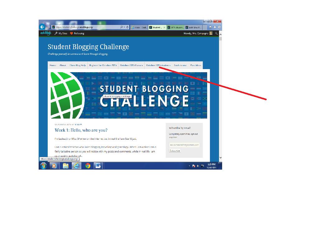 blog challenge photo